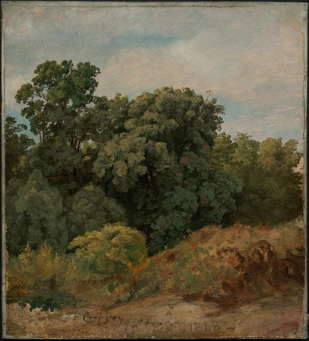 Study of a Clump of Trees by Jasper Francis Cropsey (1823-1900, United States)