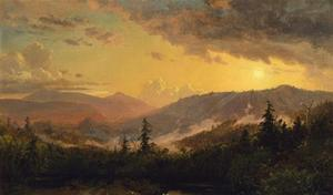 Jasper Francis Cropsey - Sunset after a Storm in the Catskill Mountains