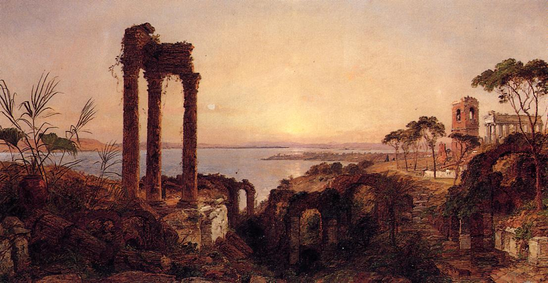 The Bay of Naples by Jasper Francis Cropsey (1823-1900, United States)