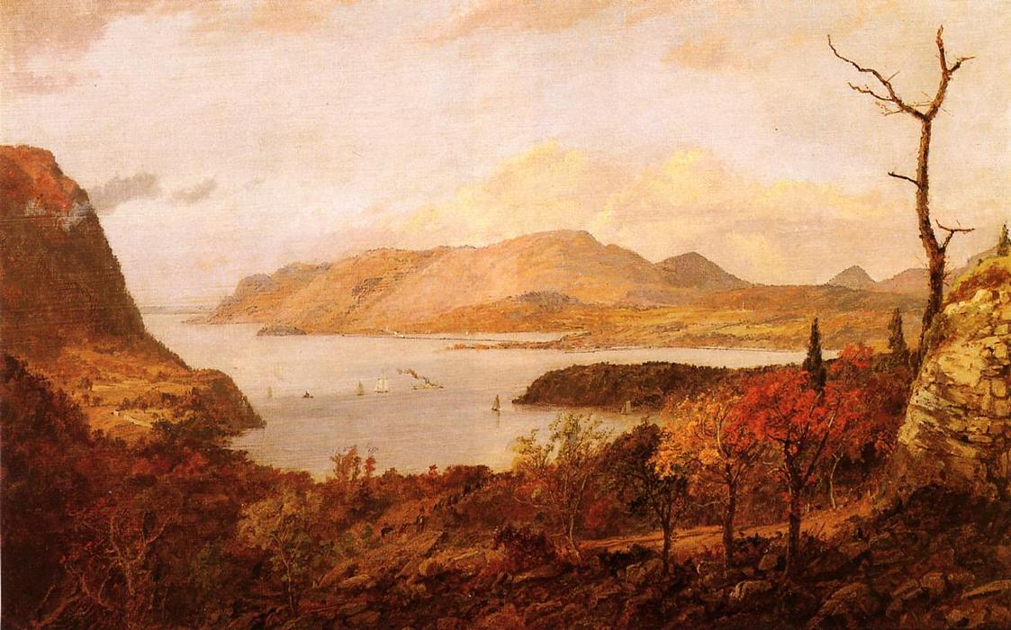The Hudson River from Fort Putnam, near West Point, 1896 by Jasper Francis Cropsey (1823-1900, United States) | Famous Paintings Reproductions | WahooArt.com