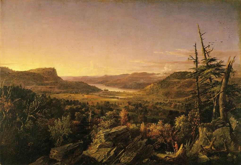 View of Greenwood Lake, New Jersey, 1845 by Jasper Francis Cropsey (1823-1900, United States) | WahooArt.com