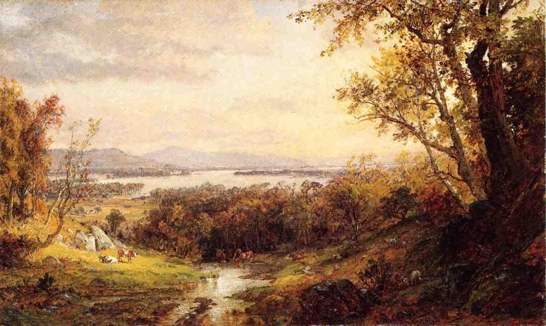 View of the Hudson 1 by Jasper Francis Cropsey (1823-1900, United States) | WahooArt.com
