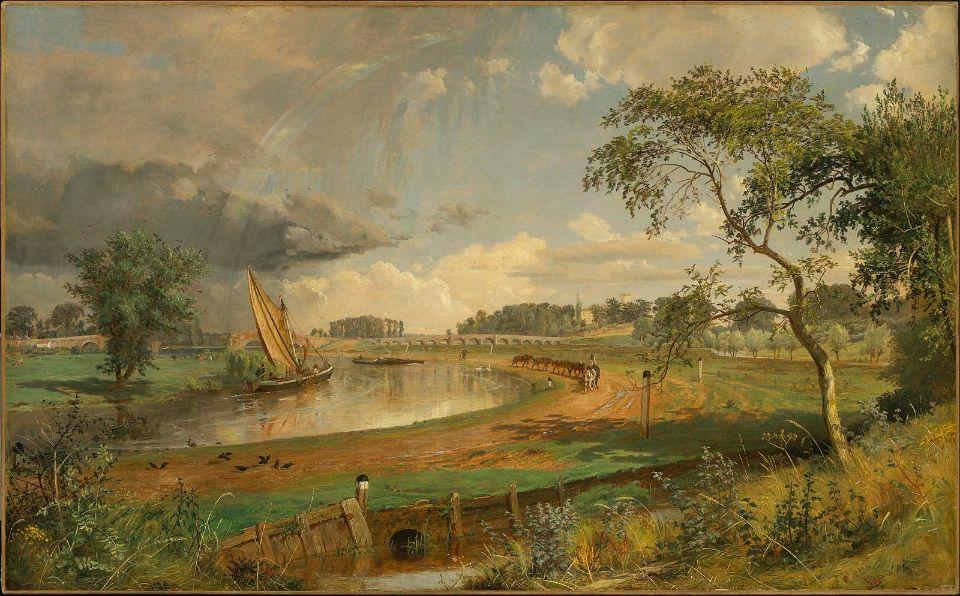 Walton-on-Thames by Jasper Francis Cropsey (1823-1900, United States)