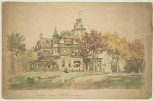 Jasper Francis Cropsey - West View of ''Waldheim,'' Residence of W. H. Webb
