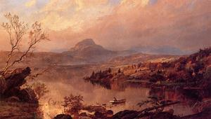 Jasper Francis Cropsey - Wickham Pond and Sugar Loaf Mountain, Orange County