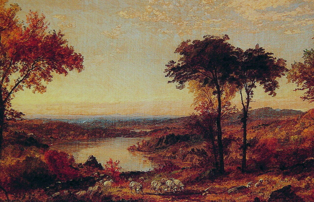 Wyoming Valley, Pennsylvania by Jasper Francis Cropsey (1823-1900, United States) | WahooArt.com