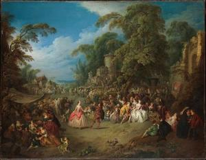Jean-Baptiste Pater - The Fair at Bezons