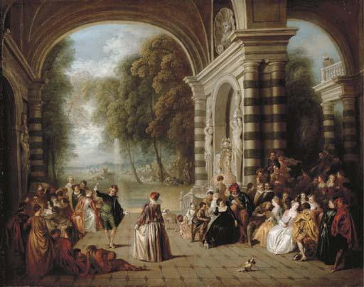 The Pleasures of the Ball by Jean-Baptiste Pater (1695-1736, France) | Museum Quality Reproductions | WahooArt.com