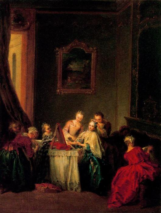 The Toilette by Jean-Baptiste Pater (1695-1736, France) | Painting Copy | WahooArt.com