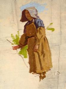 Jean Frederic Bazille - Grape Picker in a Cap 1