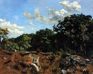 Landscape at Chailly, Oil On Canvas by Jean Frederic Bazille  (order Fine Art Hand Painted Oil Painting Jean Frederic Bazille)