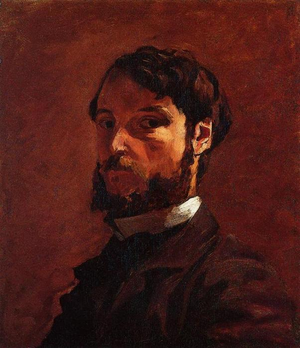 Portrait of a Man, Oil On Canvas by Jean Frederic Bazille  (buy Fine Art Art reproduction Jean Frederic Bazille)