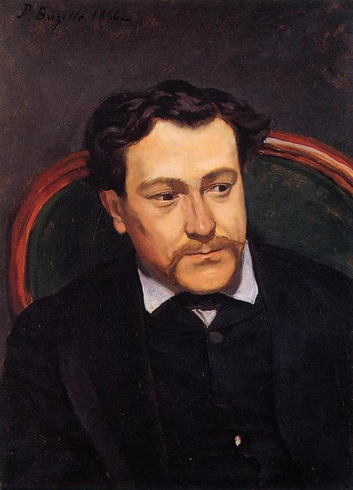 Portrait of Edouard Blau, Oil On Canvas by Jean Frederic Bazille (1841-1870, France)