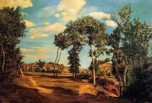 Jean Frederic Bazille - The Banks of the Lez