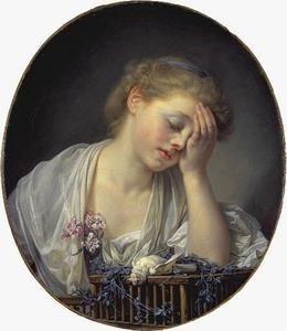 Jean-Baptiste Greuze - A Girl with a Dead Canary