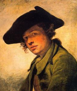 Jean-Baptiste Greuze - A Young Man in a Hat