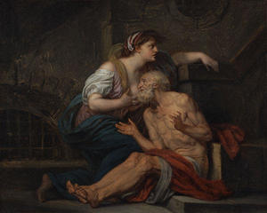Jean-Baptiste Greuze - Cimon and Pero. --Roman Charity--