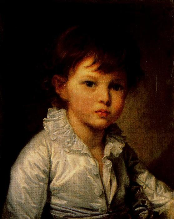 Earl P. A. Stroganov as a child by Jean-Baptiste Greuze (1725-1805, France) | Paintings Reproductions Jean-Baptiste Greuze | WahooArt.com