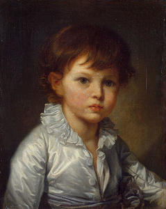 Jean-Baptiste Greuze - Portrait of Count Pavel Stroganov as A Child
