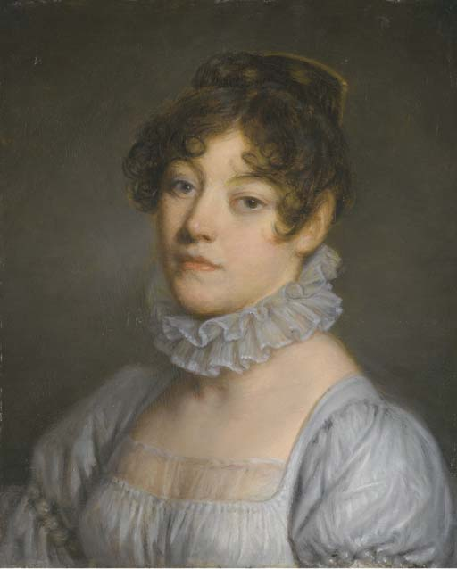 Portrait of young woman by Jean-Baptiste Greuze (1725-1805, France) | Painting Copy | WahooArt.com