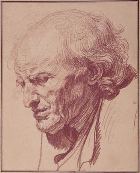 Study of the Head of an Old Man by Jean-Baptiste Greuze (1725-1805, France) | Art Reproduction | WahooArt.com
