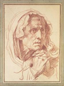 Jean-Baptiste Greuze - Study of the Head of an Old Woman