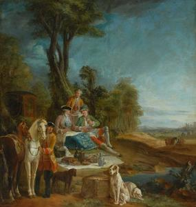 Jean-Baptiste Oudry - A Hunting Luncheon