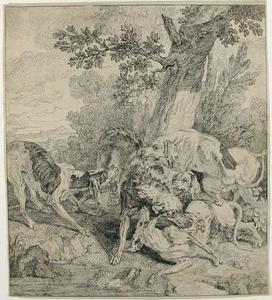 Jean-Baptiste Oudry - A Pack of Dogs Attacking a Boar
