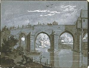 Jean-Baptiste Oudry - Bridge over a river with a mill