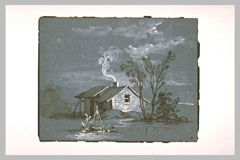 Cottage and sinks near a group of trees by Jean-Baptiste Oudry (1686-1755, France) | Painting Copy | WahooArt.com