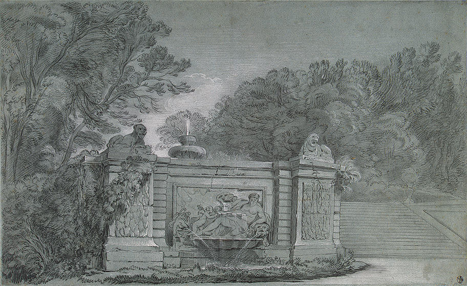 Fountain in a Park by Jean-Baptiste Oudry (1686-1755, France) | WahooArt.com