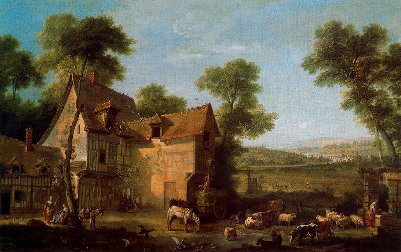 La granja by Jean-Baptiste Oudry (1686-1755, France) | Art Reproduction | WahooArt.com
