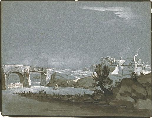 Landscape with River by Jean-Baptiste Oudry (1686-1755, France) | Museum Quality Reproductions | WahooArt.com