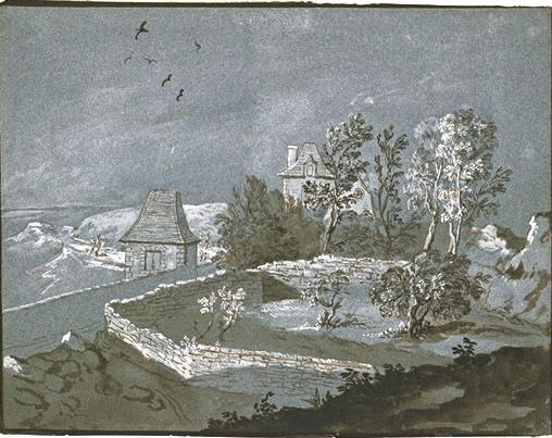 nclosures with tree houses by Jean-Baptiste Oudry (1686-1755, France)