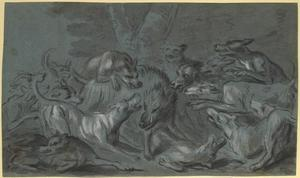 Jean-Baptiste Oudry - Pack of Dogs Attacking a Wild Boar