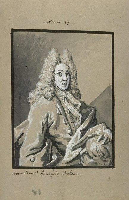 Portrait de monsieur Bourgeois, sculpteur by Jean-Baptiste Oudry (1686-1755, France)