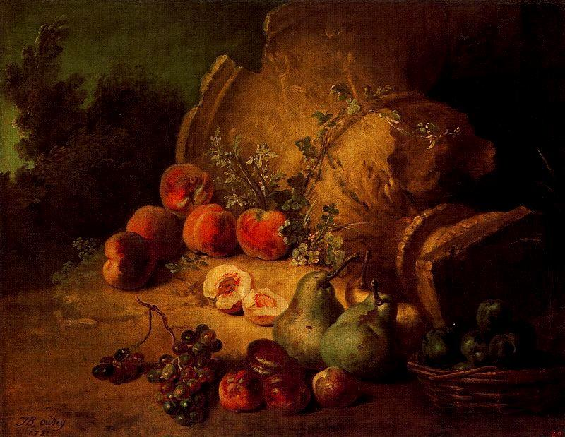 Still life with fruits by Jean-Baptiste Oudry (1686-1755, France) | Art Reproductions Jean-Baptiste Oudry | WahooArt.com