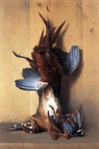 Buy Museum Art Reproductions | Still-life with Pheasant by Jean-Baptiste Oudry (1686-1755, France) | WahooArt.com