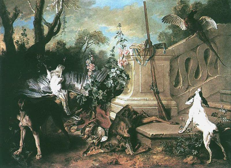 The Dead Roe by Jean-Baptiste Oudry (1686-1755, France)