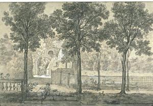 Jean-Baptiste Oudry - View of the Arcueil Park 2