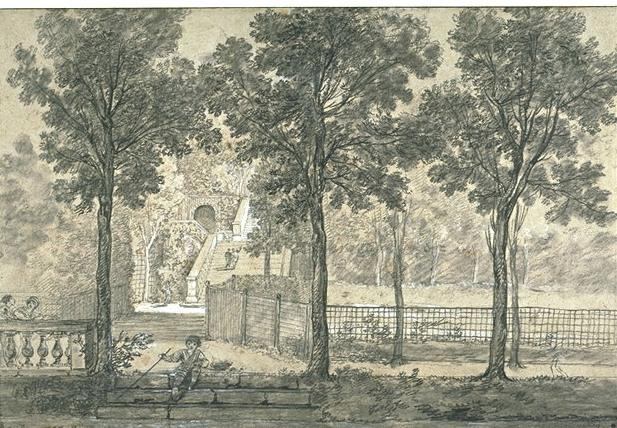 View of the Arcueil Park 2 by Jean-Baptiste Oudry (1686-1755, France) | Oil Painting | WahooArt.com