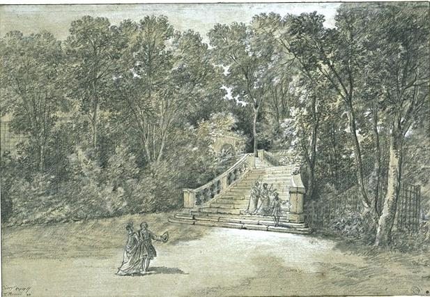 View of the Arcueil Park 3 by Jean-Baptiste Oudry (1686-1755, France) | WahooArt.com