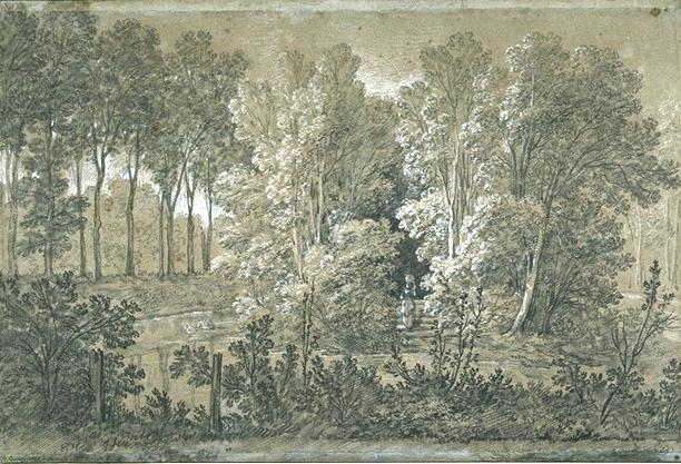 View of the Arcueil Park by Jean-Baptiste Oudry (1686-1755, France) | Museum Quality Reproductions | WahooArt.com