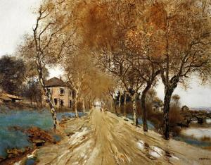 Jean-François Raffaelli - A Lane of Plane Trees