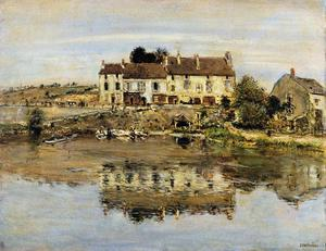 Jean-François Raffaelli - Small Houses on the Banks of the Oise