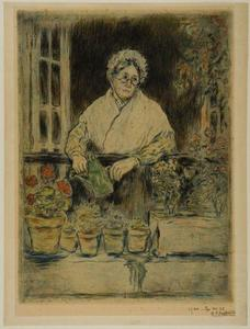Jean-François Raffaelli - The Old Lady-s Garden