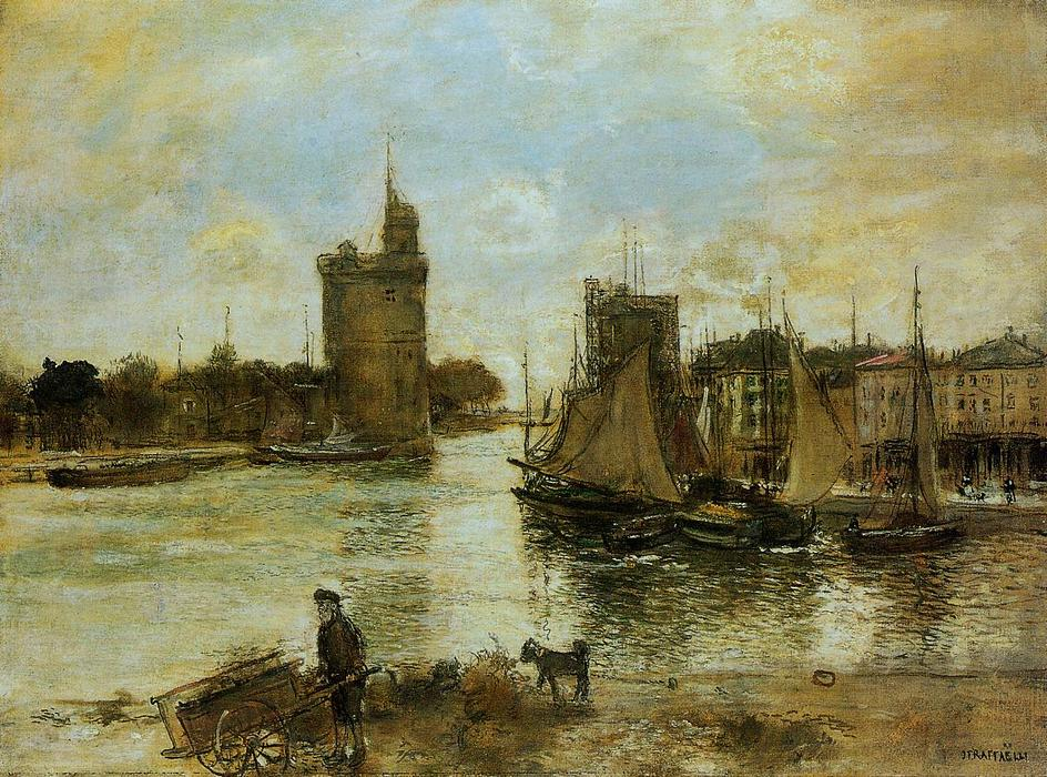 The Port of La Rochelle in Autumn, 1876 by Jean-François Raffaelli (1850-1924, France) | Painting Copy | WahooArt.com