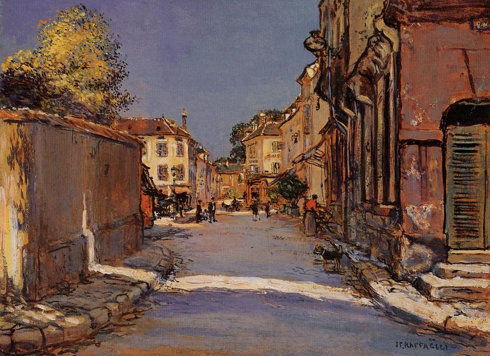 Village Street by Jean-François Raffaelli (1850-1924, France) | Museum Quality Reproductions | WahooArt.com