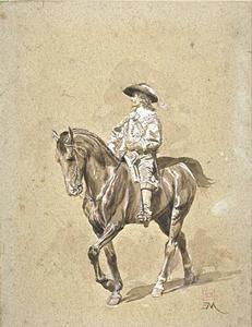 Jean Louis Ernest Meissonier - A rider from the early seventeenth century