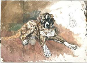 Jean Louis Ernest Meissonier - Marco, the Saint Bernard dog of the artist
